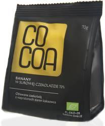 Banany w czekoladzie 70 % BIO 70 g