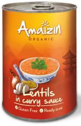 Soczewica w sosie curry (puszka) bezglutenowa BIO 420 g