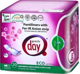 Wkładki higieniczne z paskiem anionowym i warstwą wchłaniającą wilgoć 20 szt.