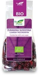 Żurawina słodzona cukrem trzcinowym BIO 100 g