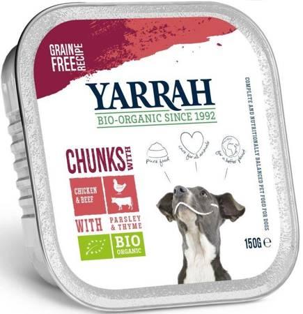 (dla psa) kawałki kurczaka z wołowiną BIO 150 g