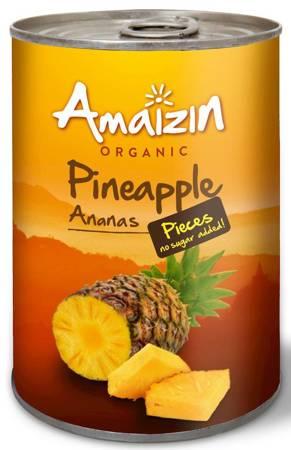 Ananas kawałki w soku własnym (puszka) BIO 400 g (240 g)