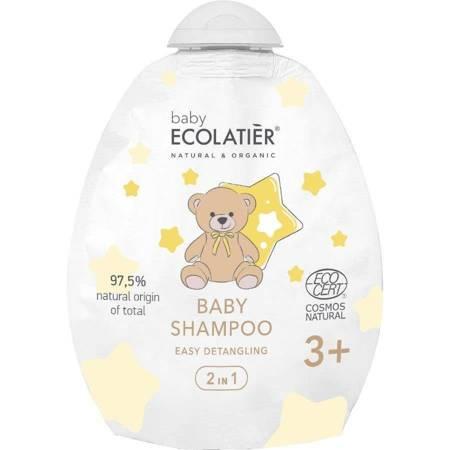 BABY Szampon dla niemowląt 2w1 3+ Łatwe rozczesywanie, DOY-PACK, 250 ml ECOLATIER