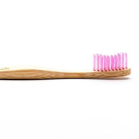 Bambusowa szczoteczka do zębów dla dorosłych, Medium, fioletowa