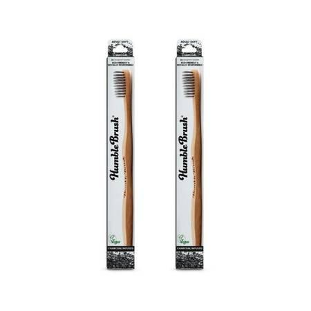 Bambusowa szczoteczka do zębów dla dorosłych z włóknem węglowym, CHARCOAL