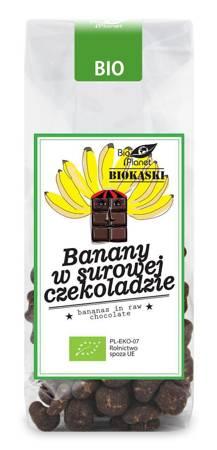 Banany w surowej czekoladzie BIO 100 g