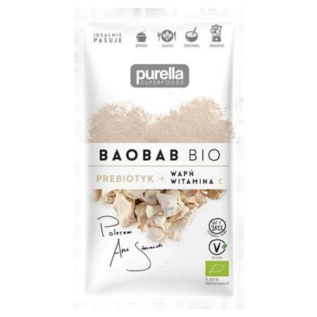 Baobab BIO. Prebiotyk. Wapń + Witamina C 21 g