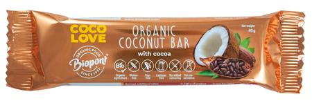 Baton kokosowy z kakao bezglutenowy BIO 40 g