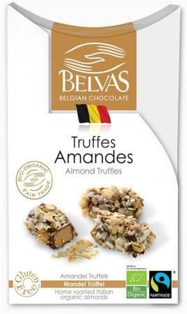 Belgijskie czekoladki trufle z migdałami fair trade bezglutenowe BIO 100 g