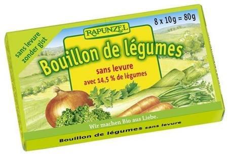 Bulion - kostki warzywne bez zawartości drożdży (jasnozielone) BIO (8 x 10 g) 80 g
