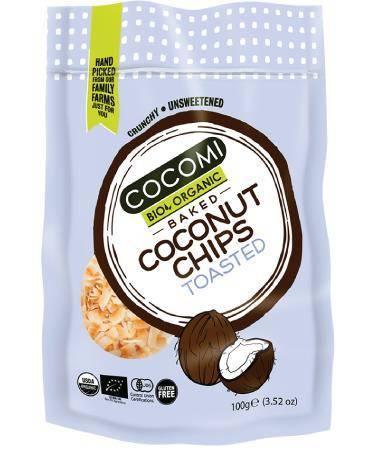 Chipsy kokosowe prażone bezglutenowe BIO 100 g
