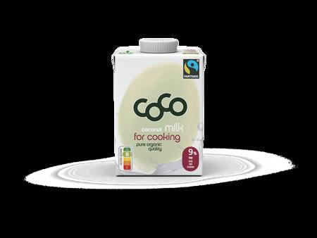 Coconut milk - napój kokosowy do gotowania fair tarde BIO 500 ml