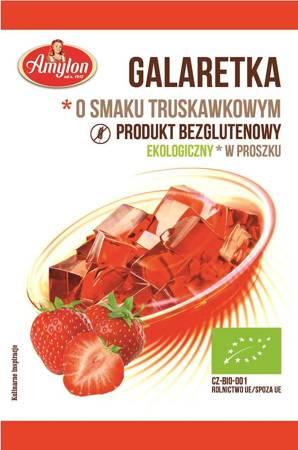 Galaretka o smaku truskawkowym bezglutenowa BIO 40 g