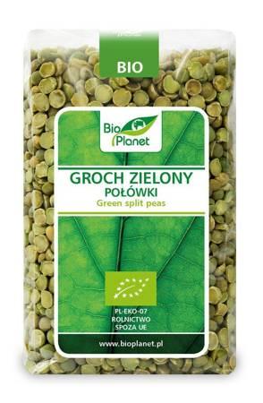 Groch zielony połówki BIO 500 g