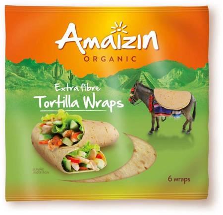 Tortilla wraps z otrębami (źródło błonnika pokarmowego) BIO 240 g